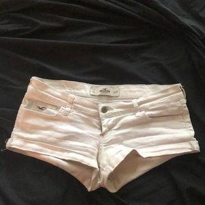 white Hollister jean shorts